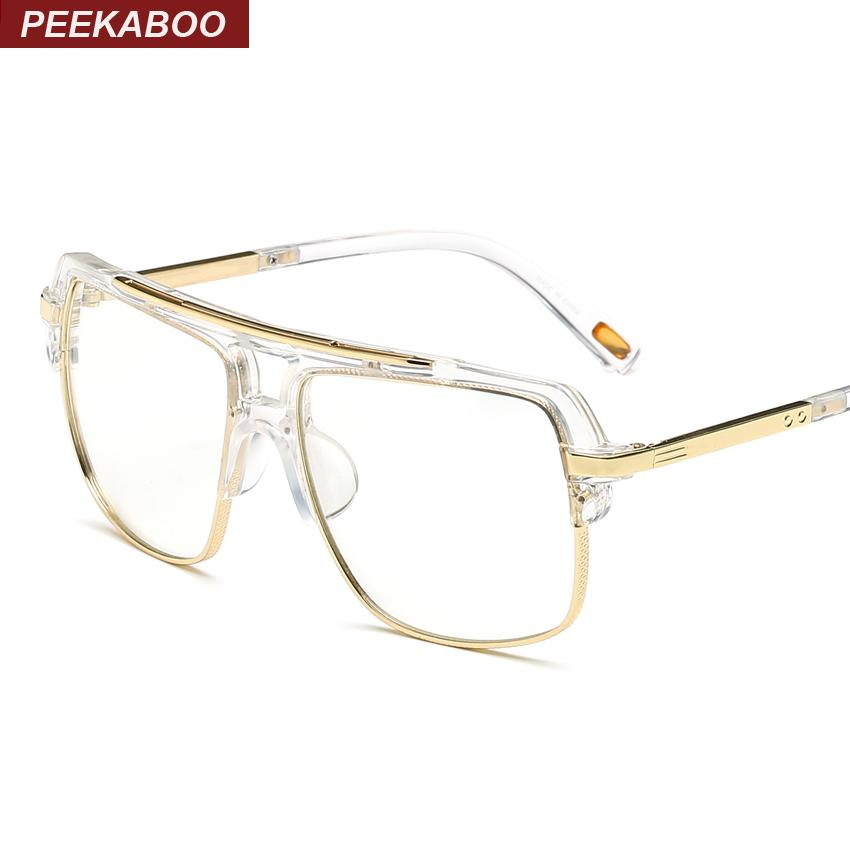 37176e81cd Wholesale- Peekaboo Big Fashion Eye Glasses Frames for Men Brand ...