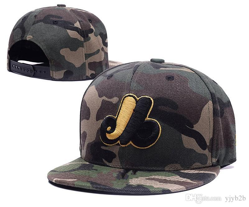 New Arrival Men s Montreal Camo Color Snapback Hats Team Logo ... 49db5a4f8f4b