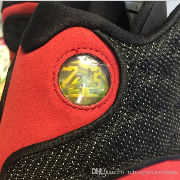 Real Carbon Fiber XIII 13s basketball shoes men bred 3D eyes black red Sneaker 13 With box SIZE 9, 10.5
