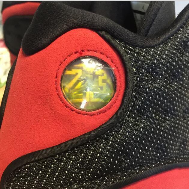 Verdadeiro Fibra De Carbono XIII 13 s tênis de basquete homens raça olhos 3D preto vermelho Sneaker 13 Com caixa TAMANHO 9, 10.5