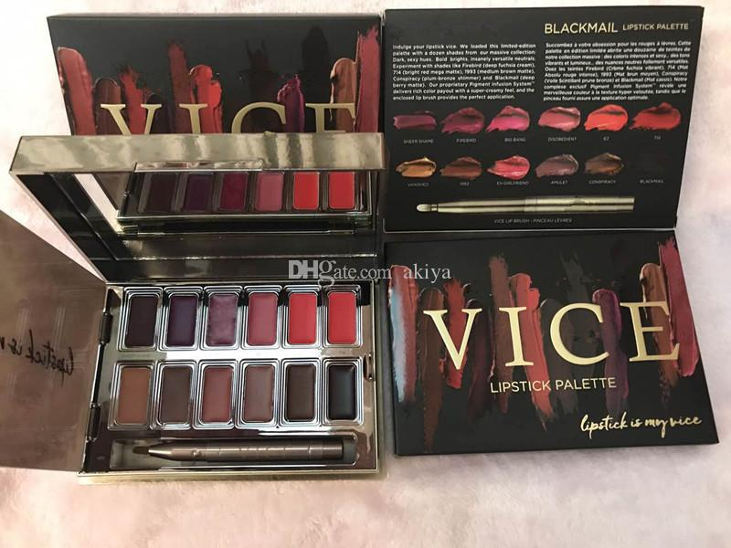 New Blackmail Vice Lipstick i Lip Gloss Palette Cream Lip Makeup Long Lasting Cosmetics Limited Edition Lip Gloss Palette