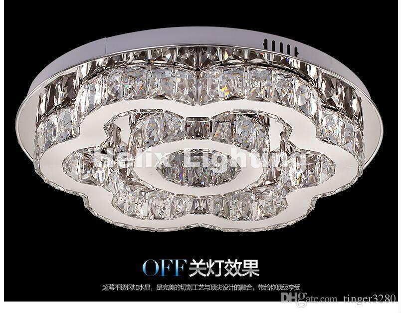 Envío gratis Arte decration D50cm 90-265V Venta caliente moderna Estilo floral Diseño LED Lámpara de techo de cristal Lustre LED Luces de cristal
