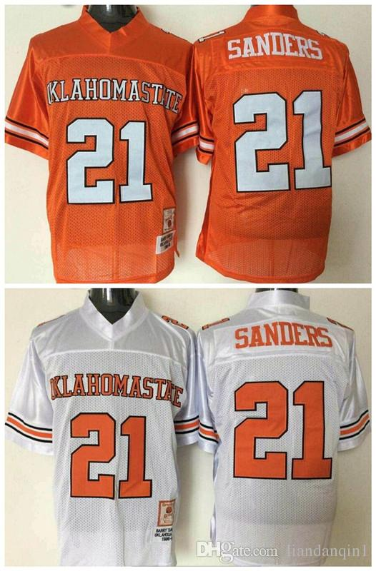 dd3933069 ... czech discount mens white oklahoma state cowboys college football  jerseys stitched orange 21 barry sanders ok