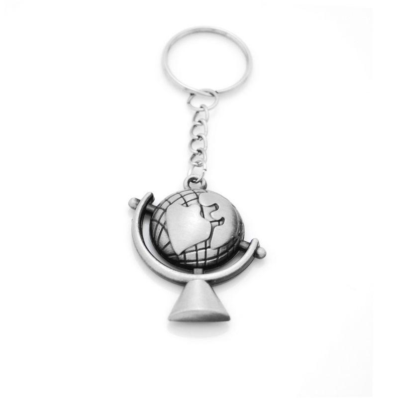 Originale nouvelle carte du monde Porte-clés Vintage Globe pendentif porte-Adventurer Voyage monde cadeau Bijoux Porte-clés Porte-clés