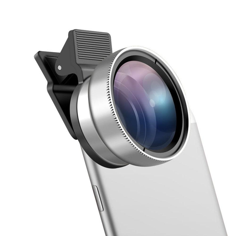 2 in 1 Universal Phone Lens 37MM 0.45x Super Wide Angle Lens with 12.5x Super Macro Mini Clip-on Cell Phone Camera Lenses Kit for More Phone