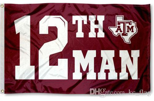 new product c4f78 d5ccd Texas A&M Aggies 12th Man Flag Large