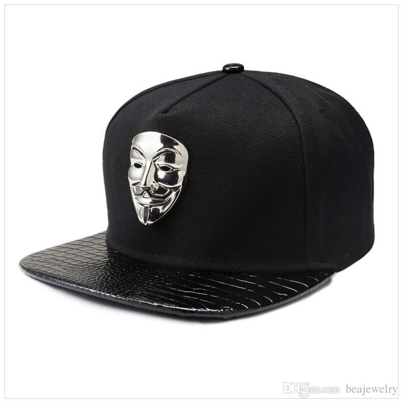 V para a vingança máscara plana brim boné de beisebol algodão ajustável snapback chapéus 3 cor hip hop das mulheres dos homens presentes de rock