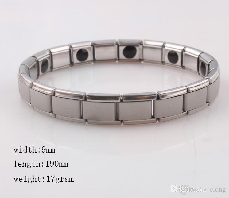 venta caliente Nueva llegada Pulsera de energía de titanio, Nano Energy Magnetic Germanium Pulsera de alivio del dolor Powerfull! 50