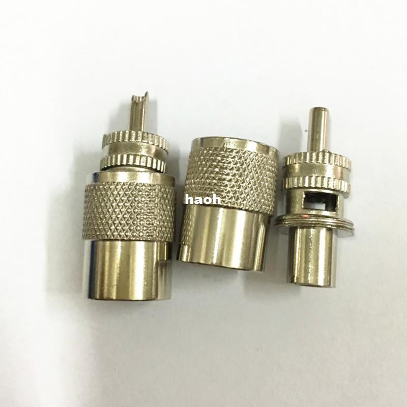 20Pcs\Lot Connector UHF Male PL259 Solder RF Connector Plug For RG8 Coaxial Cable Adapter 2Part
