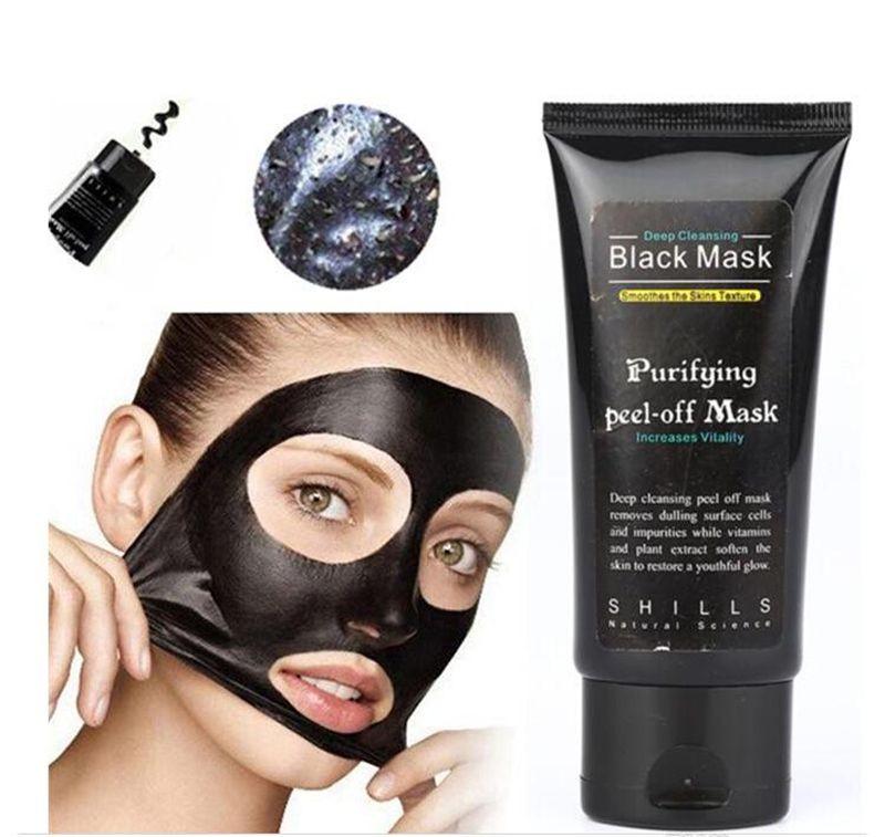 Shills black Peel off face Masks Deep Cleansing Black MASK 50ML Blackhead Facial Mask Shills Deep Cleansing Black MASK