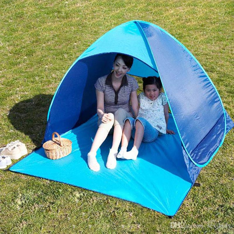 Outdoor Quick Automatic Opening Tents Instant Portable Beach Tent Beach Tent Beach Shelter Hiking Camping Family Tents For 2-3 Person