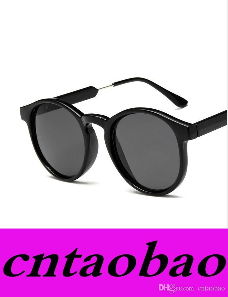Compre Gafas De Sol Redondas De La Vendimia Mujer Cheap Uv400 Gafas ...