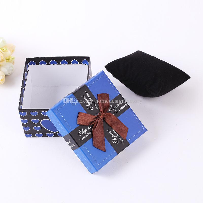 Luxury Watch Box Ribbon Bowknot Present Gift Box for Bracelet Bangle Jewelry Watch Boxes High Quality