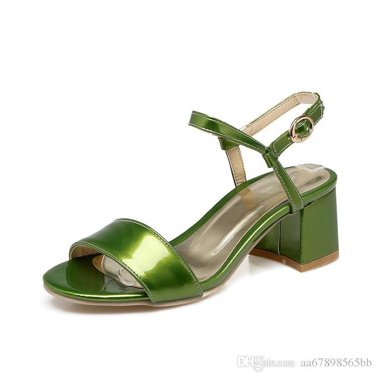 최신 섹시한 여성 흰색 여름 샌들 신발 관음증 발가락 블록 발 뒤꿈치 발목 랩 드레스 신발