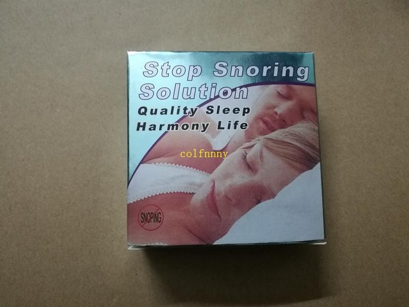 50 pz / lotto EVA Sleep Stop Russare Soluzione anti-russare Denti Bretelle Anti Russare Bocchino Bretelle dispositivo Con scatola al minuto