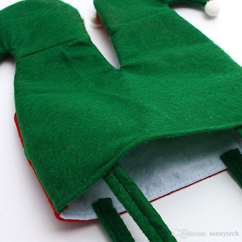 Nicht gewebtes Gewebe Weihnachten Elf Pants Strümpfe Süßigkeiten Tasche Kinder X-Mas Party Dekoration Ornament Geschenk ZA5052