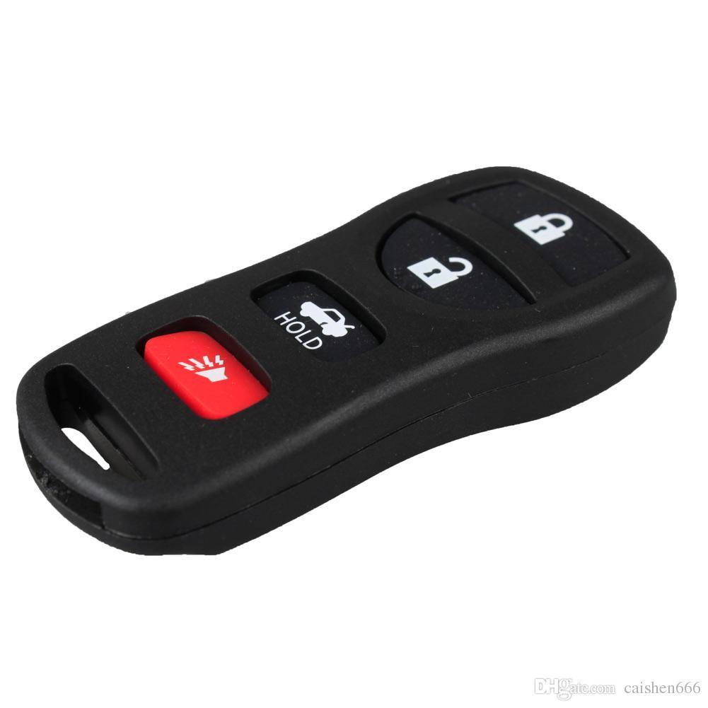 4 Botones Caja de alojamiento Fix Remote Key Shell Fob Funda para Nissan 350z Altima Maxima Infiniti Ex35 Fx35 Fx45 Qx Alarma de presión de neumáticos Car-styling