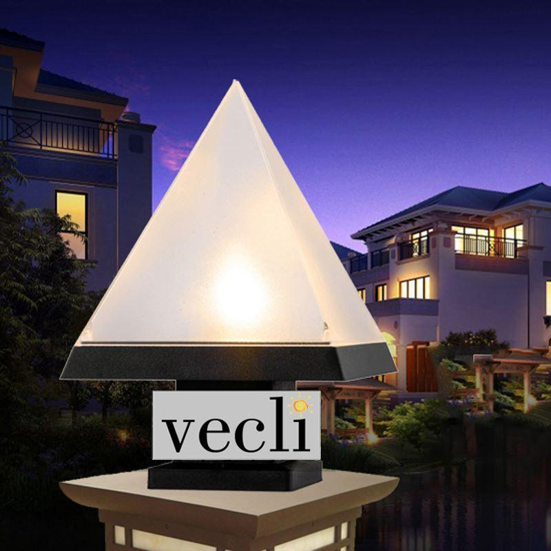 2018 Pyramid Shade Outdoor Waterproof Pillar Lamp Villa Door Fence Light  Courtyard Column Lamps From Wecus_technology, $18.25 | Dhgate.Com