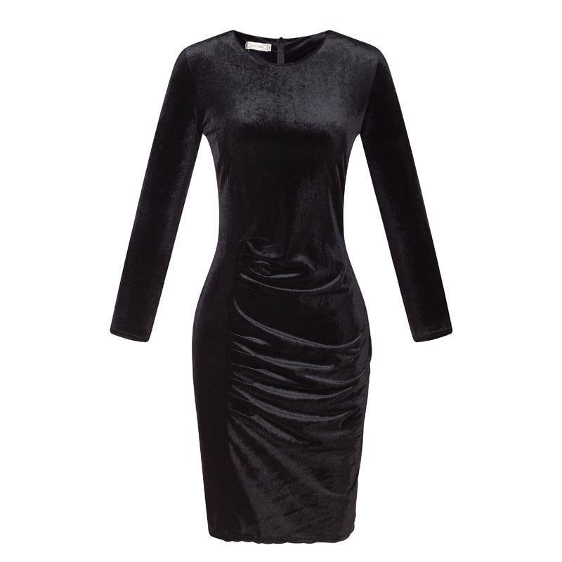 Empire Dress Black White Gold