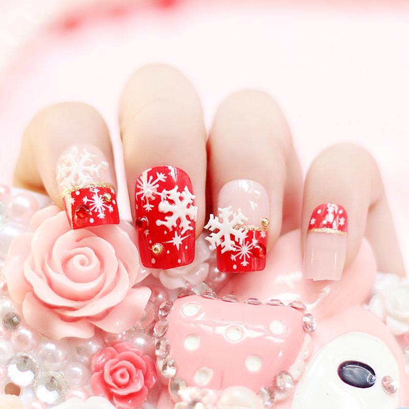 Wholesale- Beauty Pre Design False Nails Tips Acrylic French Fake ...