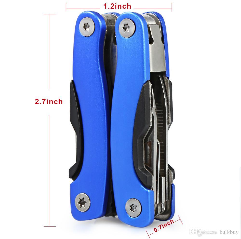 AA3 9 in 1 Katlanabilir Bıçak Çok Fonksiyonlu Pense Taşınabilir Açık Survival Paslanmaz Çelik El Aletleri Şişe Anahtarı Pense Dosyaları