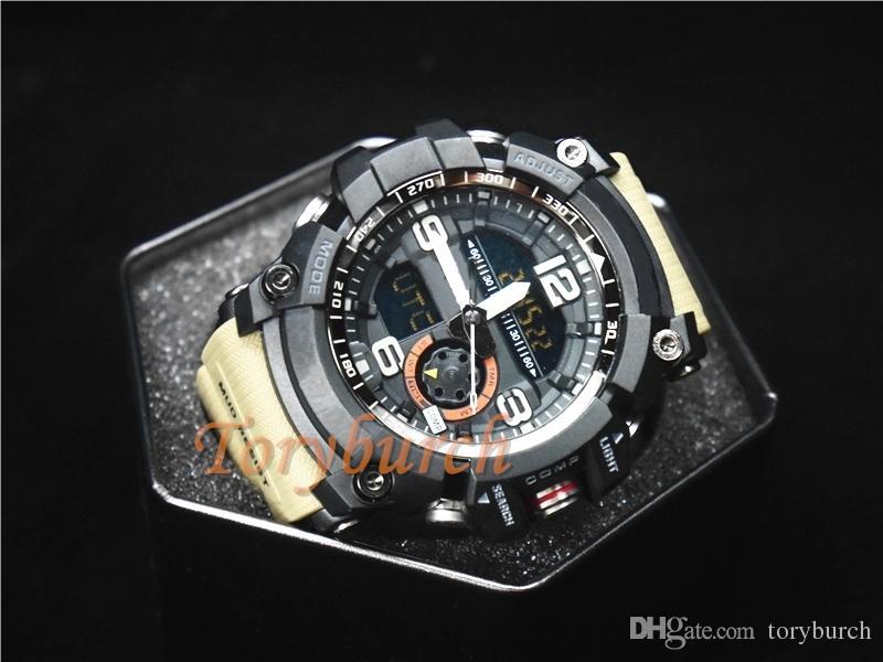 высокое качество Relogio компас температура на улице армейских мужские спортивные часы военные все функции сопротивляться водостойкого наручные часы