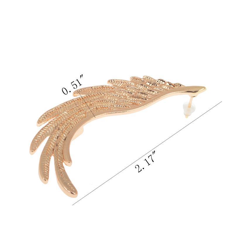 oro colore angelo ala clip perno punk orecchini polsini dell'orecchio sinistro le donne ragazze regalo gioielli orecchio