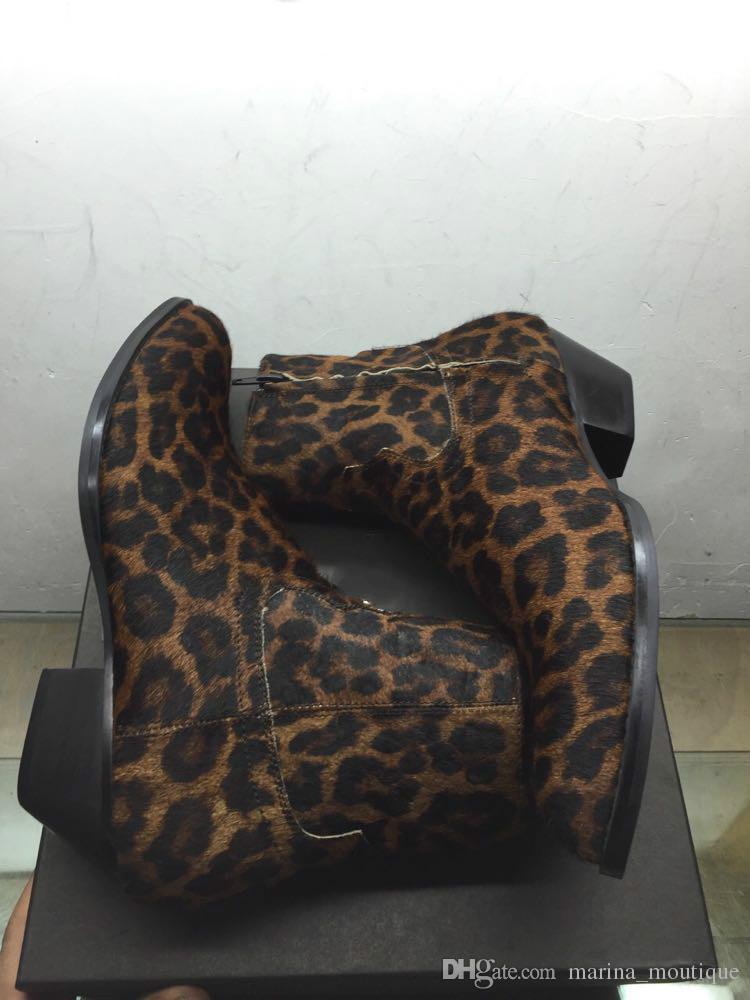 ليوبارد ماركة رجل السائق أحذية الغربية وايت أحذية زائد الحجم 46 مصمم الأزياء أحذية رجالية جلد طبيعي أزياء تشيلسي أحذية للرجال