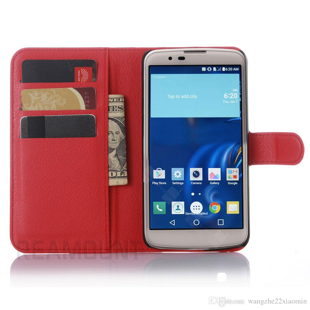 Luxury Colorful Wallet Leather Mobile Phone Case for LG K7 K8 K10 for LG G2 G3 G4 with Card Slot Cover Case