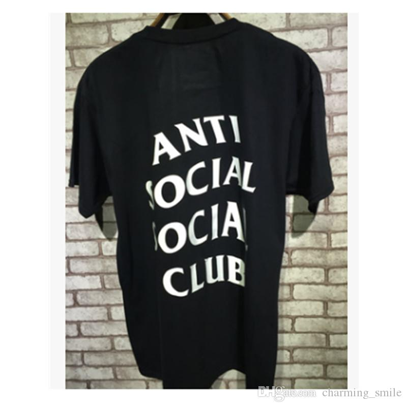 2017 New Anti Social Club Black White T Shirt Kanye West