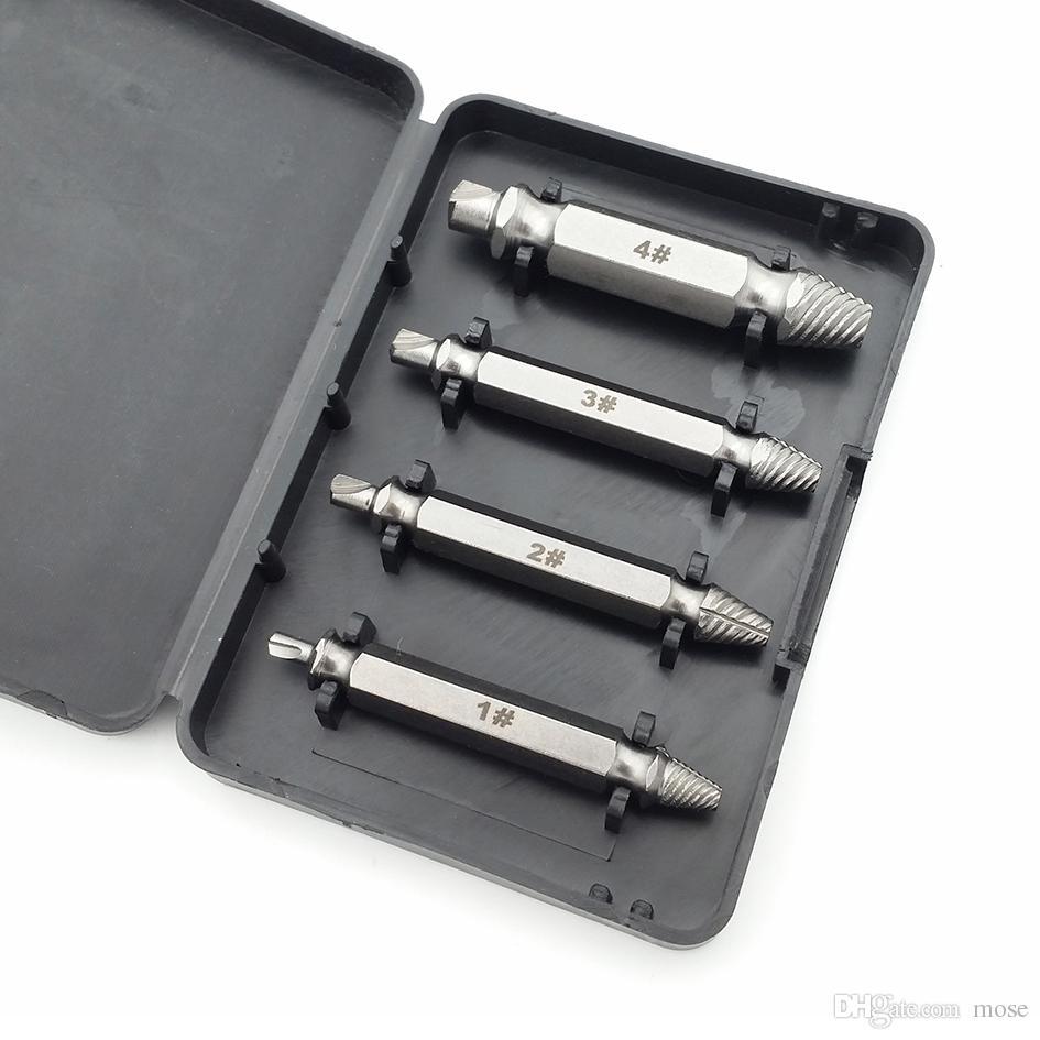 4 in 1 SpeedOut Beschädigte Schraube Extractor Bolzen Extractor Set Gebrochener Schraubenschlüssel für Holzschrauben 200 sätze / los