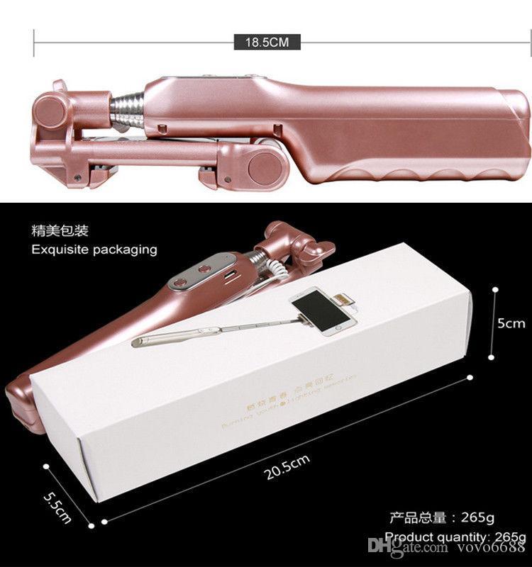 핫 무선 블루투스 확장 가능한 휴대용 LED 플래시 채우기 - 라이트 미니 셀카 스틱 아이폰 삼성 무료 배송