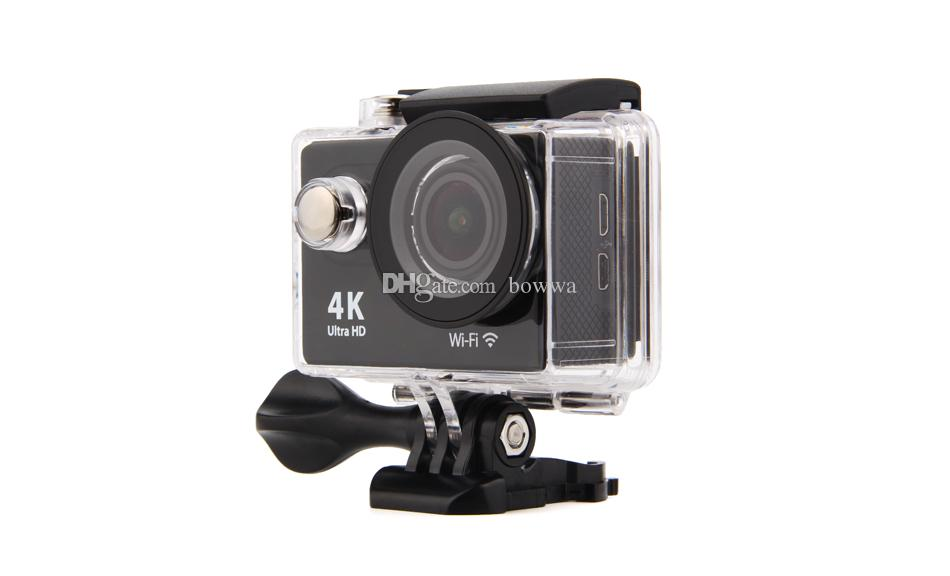 4K Ultra HD1080P 30fps 12MP 170 Degree Wide Angle WiFi Sport Action Camera DV Diving Waterproof DVR Helmet Video Camcorder H9