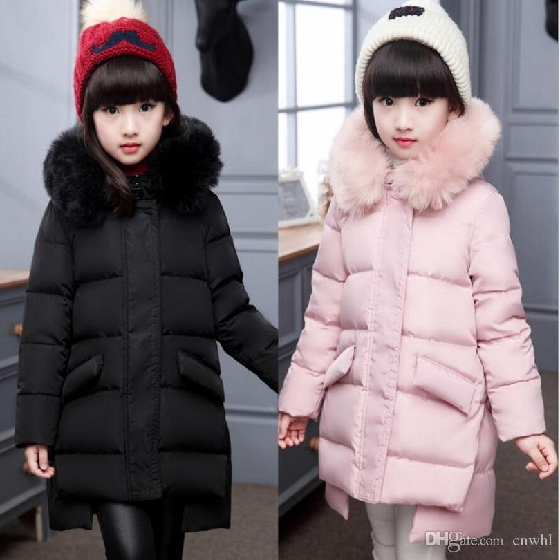 4a968bb4b 2017 Brand Girl s Real Down Jackets coats Winter Baby Coats Thick ...