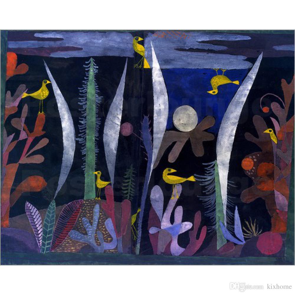 Satın Al Sarı Kuşlar Ile El Yapımı Yağlıboya Paul Klee Manzara