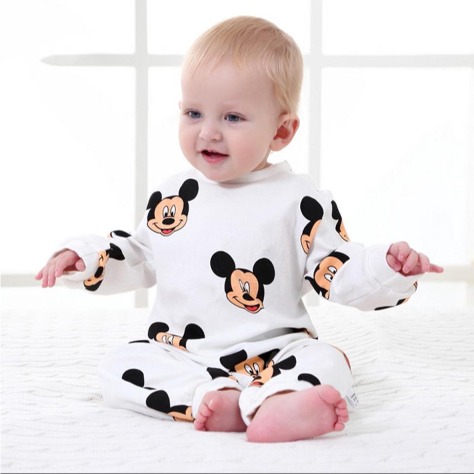 Neonato Abbigliamento Cartoon manica lunga Neonate Abbigliamento Primavera Baby Boy Tute Roupas Bebes Costume da neonato