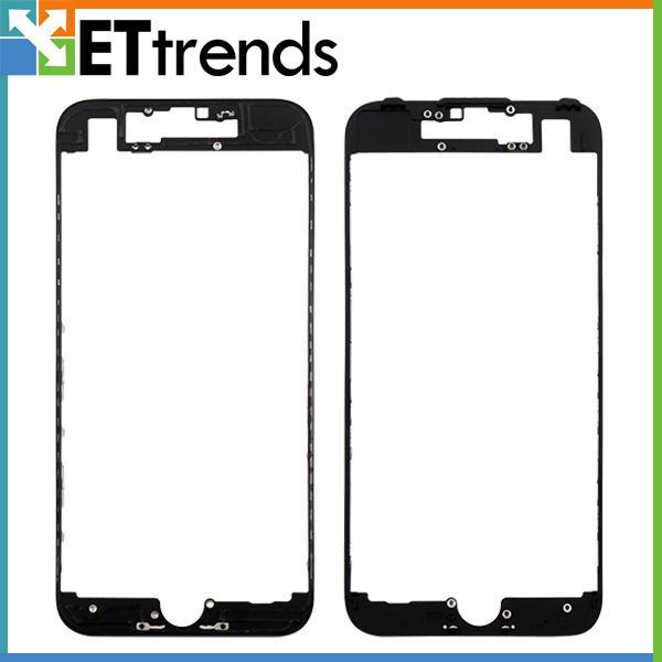 Moldura moldura de alta qualidade com cola para iphone 7 lcd digitador moldura moldura da tela com cola substituição navio livre por dhl