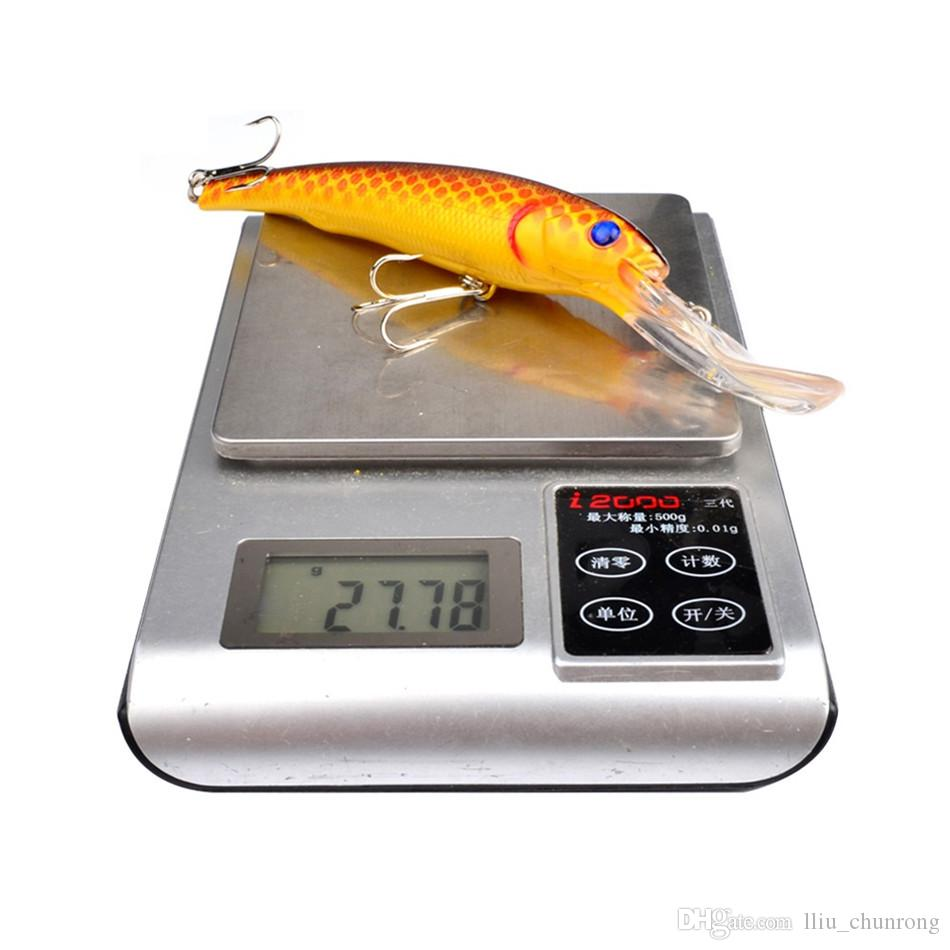 7-color 16.5cm 28g Hard plastic lures fishing hooks 3D Eyes Fishing baits 2# Hook Artificial Fishing Tackle Accessories ..