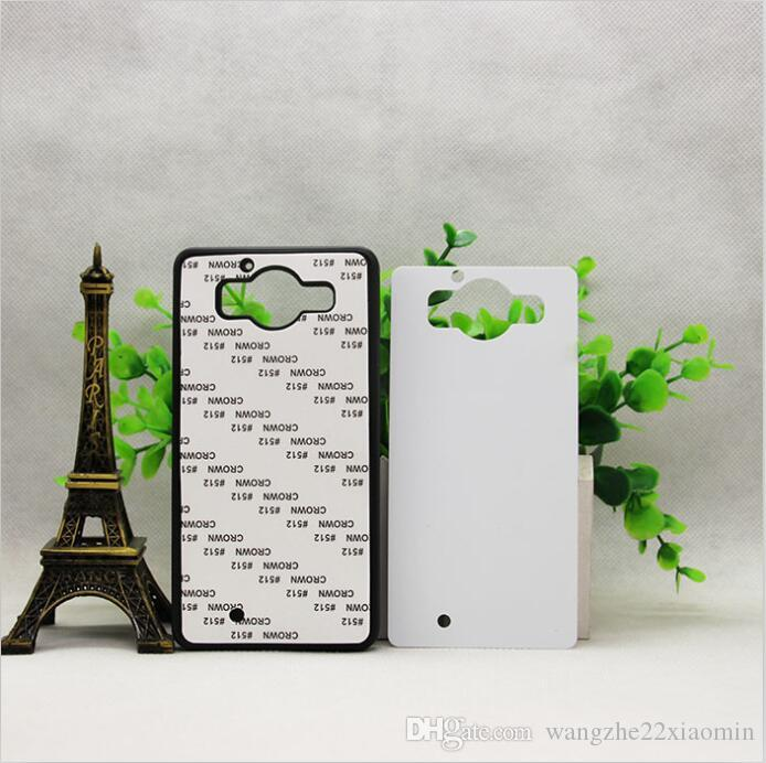 wholesale Hot Selling DIY 2D Sublimation Blank Rubber TPU+PC Case for NOKIA 950 With Aluminum Inserts Mobile Phone Case