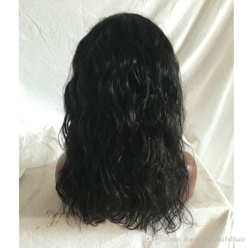 wholesale water wave Style long bob lace brazilian lace front wig human hair full wig for black women
