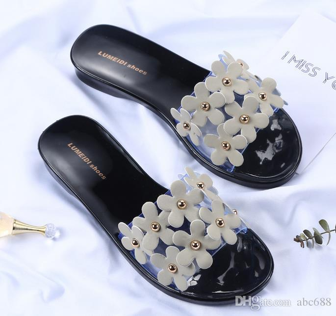New women's Slippers women flip flops Beach sandals fashion Bling slippers summer women flats shoes woman flat sandals