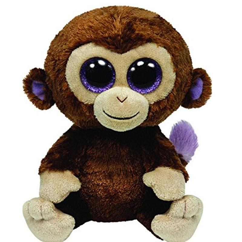 Original Ty Beanie Boos Big Eyes Plush Toy Doll Monkey Baby Kids