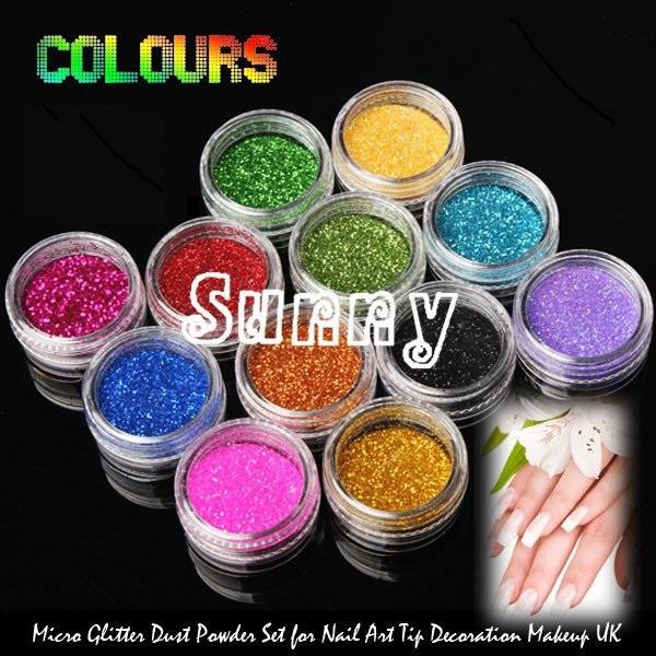 Wholesale- ONE PIECE New 12 Colors Fashion Nail Decoration Laser reflective  sequins fine powder Nail Powder For Nail Art Tips M522