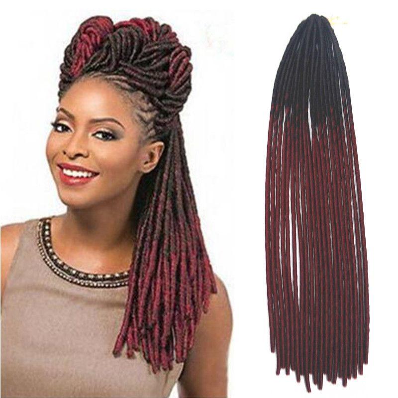 20 Synthetic Ombre Fauxlocs Crochet Hair 20roots Two Tone Crochet