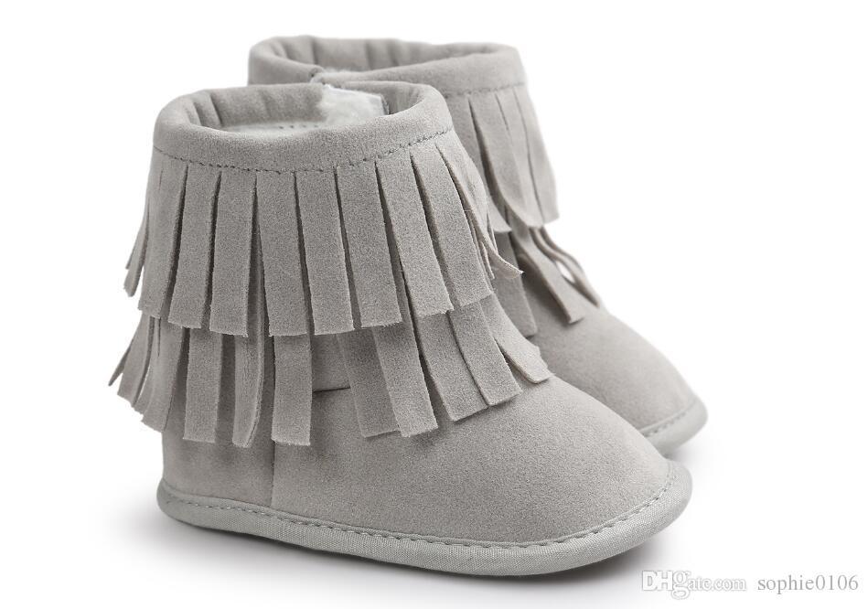 Fille Garçon Bottes d'hiver Premiers marcheurs Bébé Hiver Bottes de neige Bébé premier marcheur Bottes bébé Chaussures à semelle souple Enfant premier marcheur