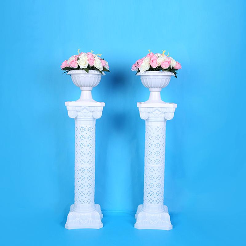 Hollow Flower Design Roman Columns White Color Plastic Pillars Road Cited Wedding Props Event Decoration Supplies