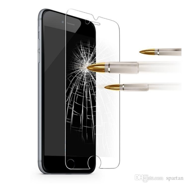 깨끗한 강화 유리 2.5D 9H 아이폰 12 11 Pro XS Max 6 7 8 Plus 삼성 A12 A21 A51 A20 A80 A40 Huawei Xiaomi
