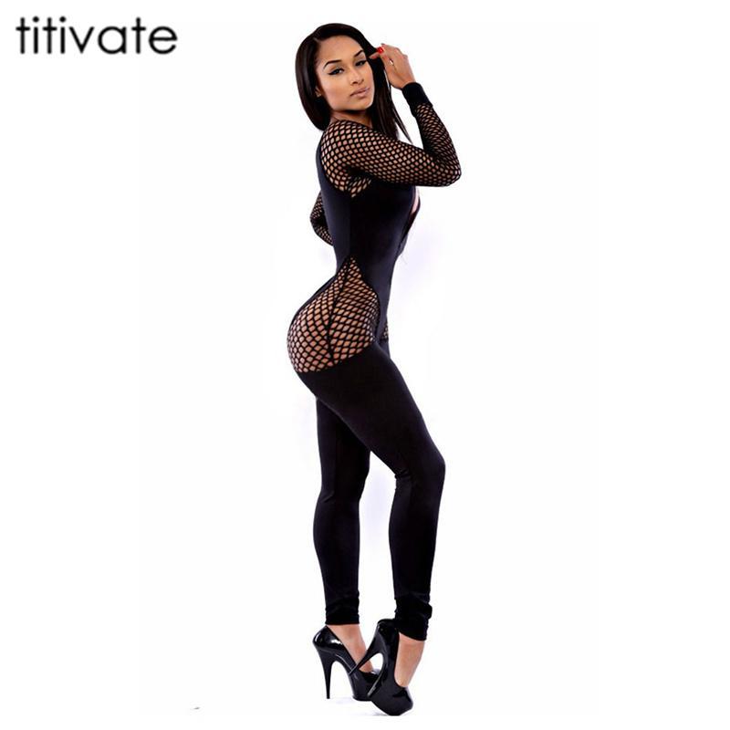 Wholesale- TITIVATE 2017 Pants Sexy Bodysuit Bodysuits Rompers ... 01b1ed45e