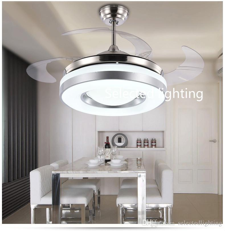 Dimming Remote Control 42inch LED Ceiling Fans Lights with Changeable Light Ceiling Fans 220V 110V for Home decor
