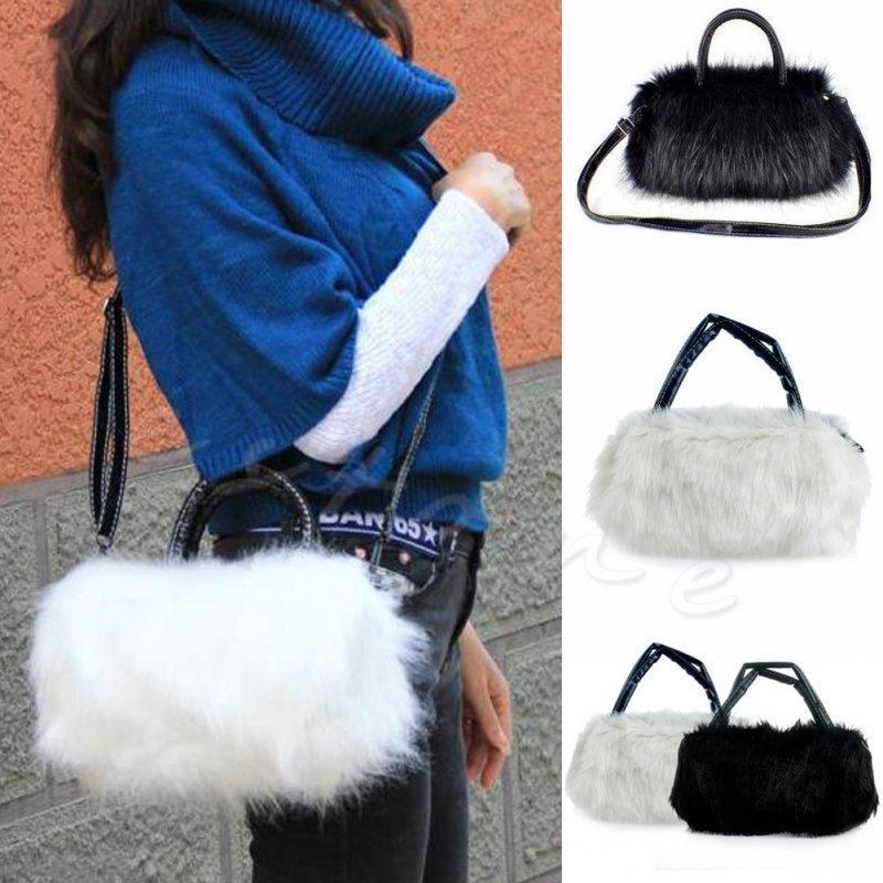 Nice Winter Women Rabbi Hair Cute Furry Faux Fur Tote Shoulder Bag PURSE  Stylish Fluffy Cross Body Messenger Bag Cheap Handbags Cheap Purses From  Raleighte 08cae9ea36f8f